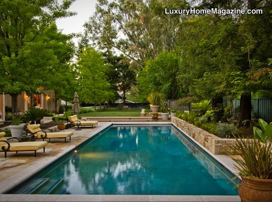 Siliconvalley Luxury Homes And Real Estate Pool Landscape Design Backyard Pool Pool Landscaping