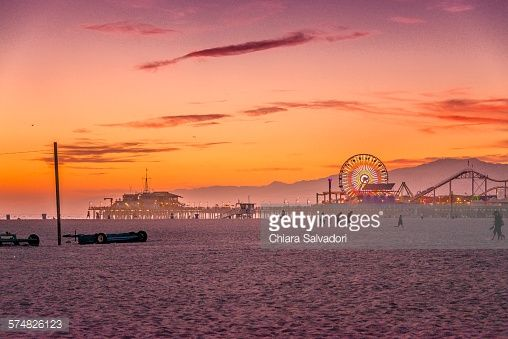 #SantaMonica at the #sunset, #California.   #stock #photography #gettyimages #print #travel  