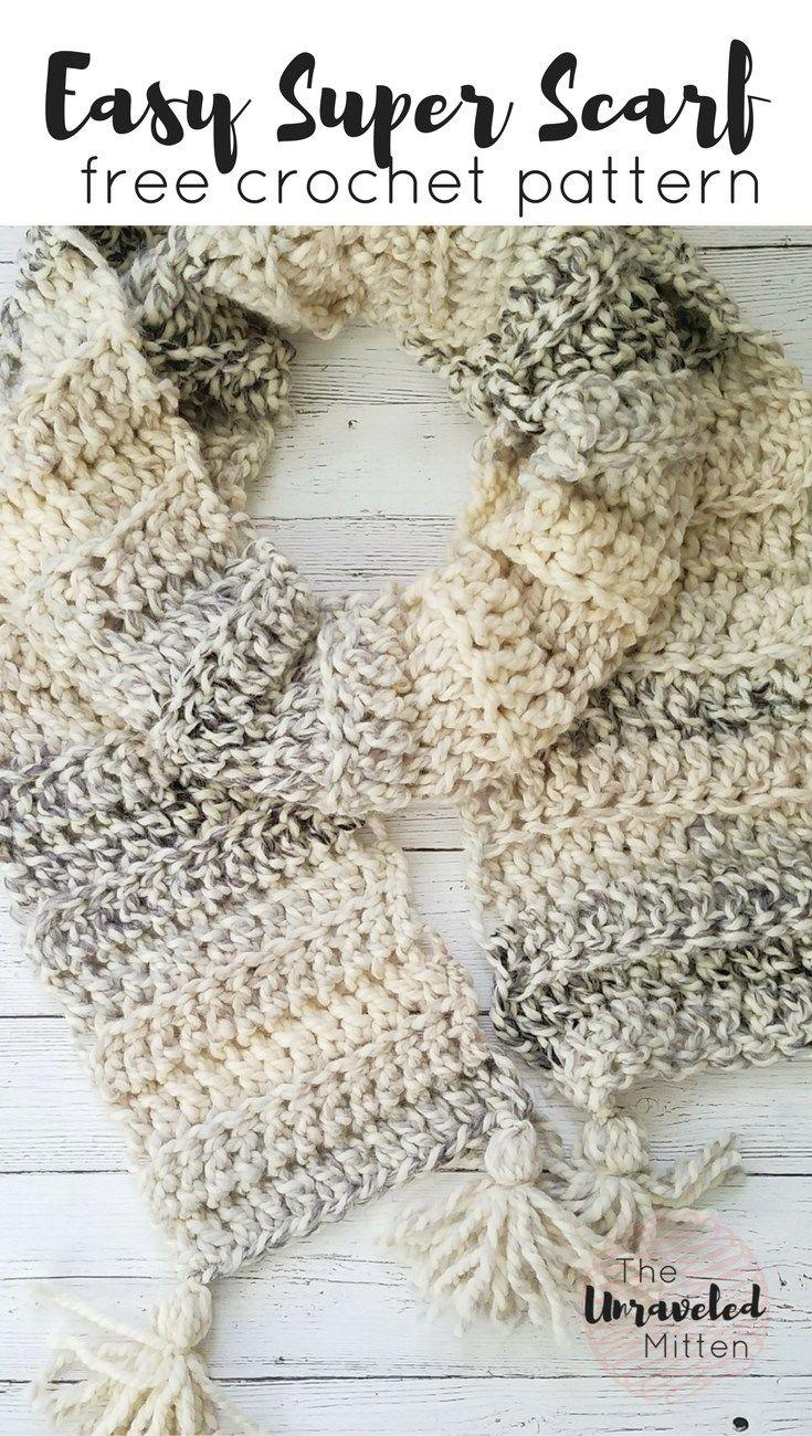 Easy Crochet Super Scarf Free Crochet Pattern   Crochet   Pinterest ...