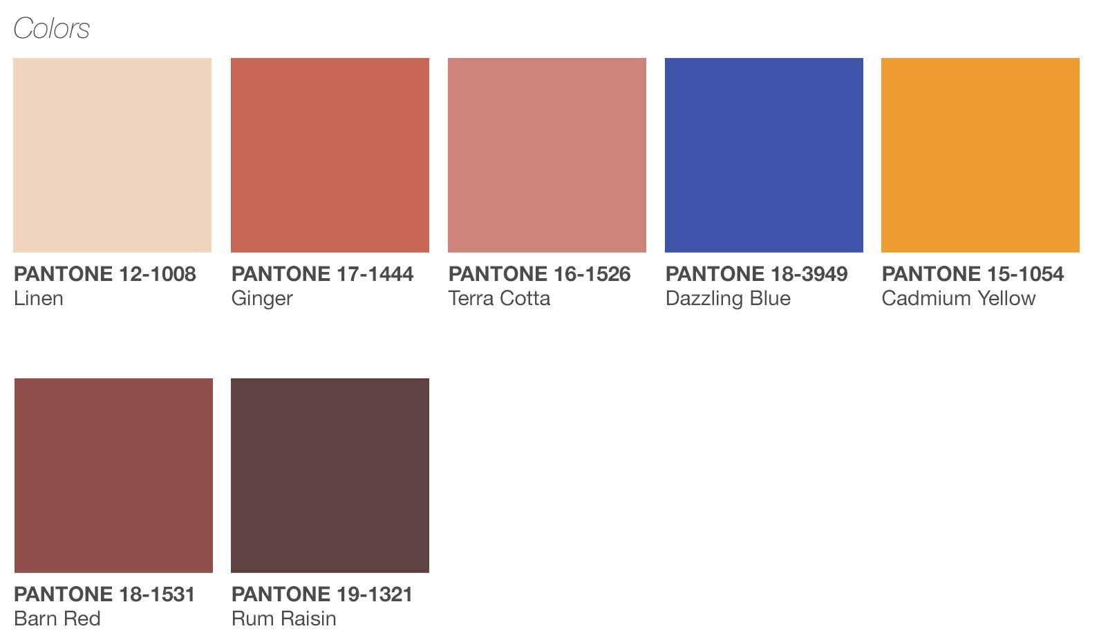 9e377476eb Color Palette for Spring 2019 Announced