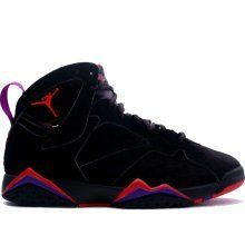 """The """"Raptors"""" color way is one of the most coveted AJ VII (7) designs. Although popularly dubbed the """"Raptors"""" because of the similarity to Toronto's uniforms it is actually the shoe MJ wore during the 1992 playoffs as he knocked off the Knicks, swept a good Heat team, destroyed the Cavs, and beat the Blazers for his second ring..."""