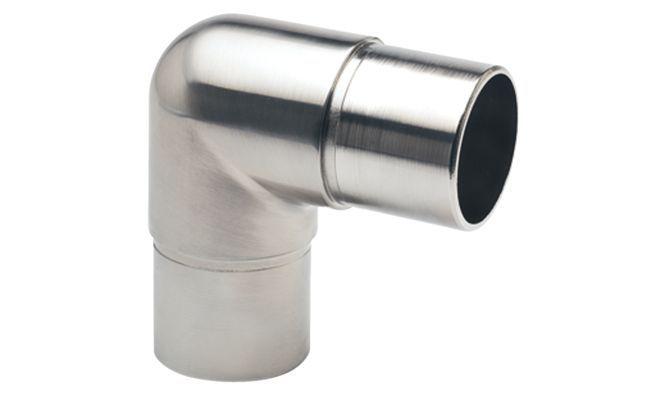 Соединитель трубы угловой 90 °, латунь, Д = 51мм