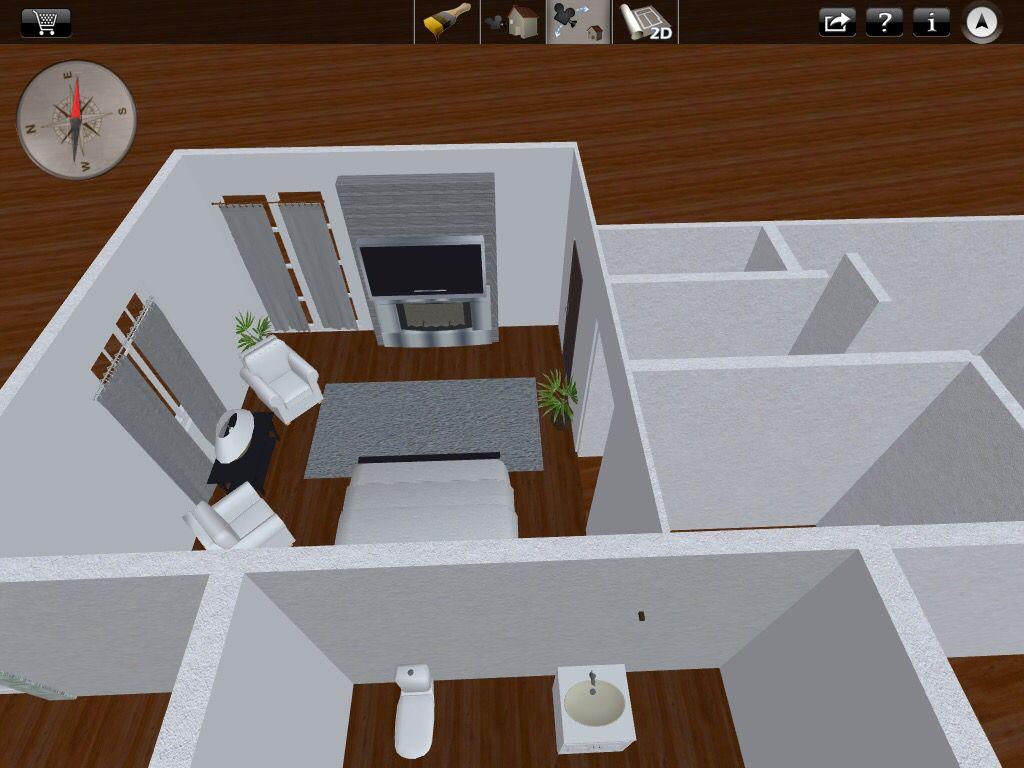 Diseñe el cuarto en 3D para la renovación del cuarto... A ver como queda