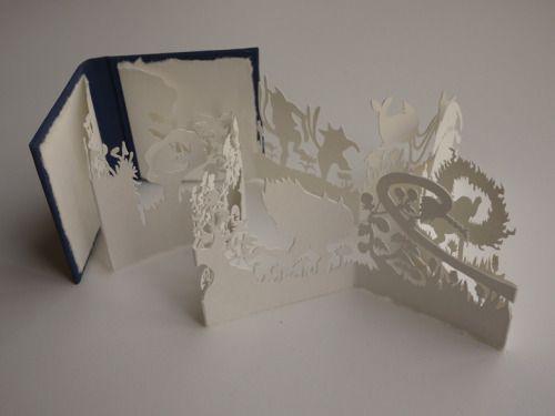 Concertina hand bound miniature artist book by Kyoko (Rachel's Cabinet)