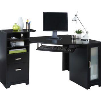 corner desk office max workstation bradford corner desk cherry by office depot officemax desk black furniture pinterest desks and bedrooms