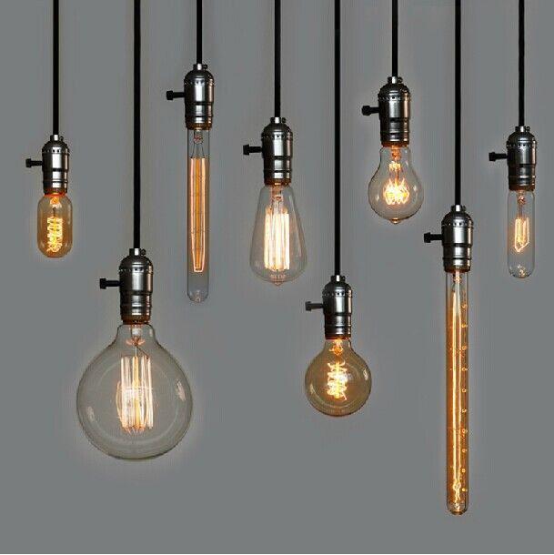 Online Shop Retro Incandescent Vintage Light Bulb DIY Handmade Edison Bulb  Lamp Bulbs For Pendant Lamps