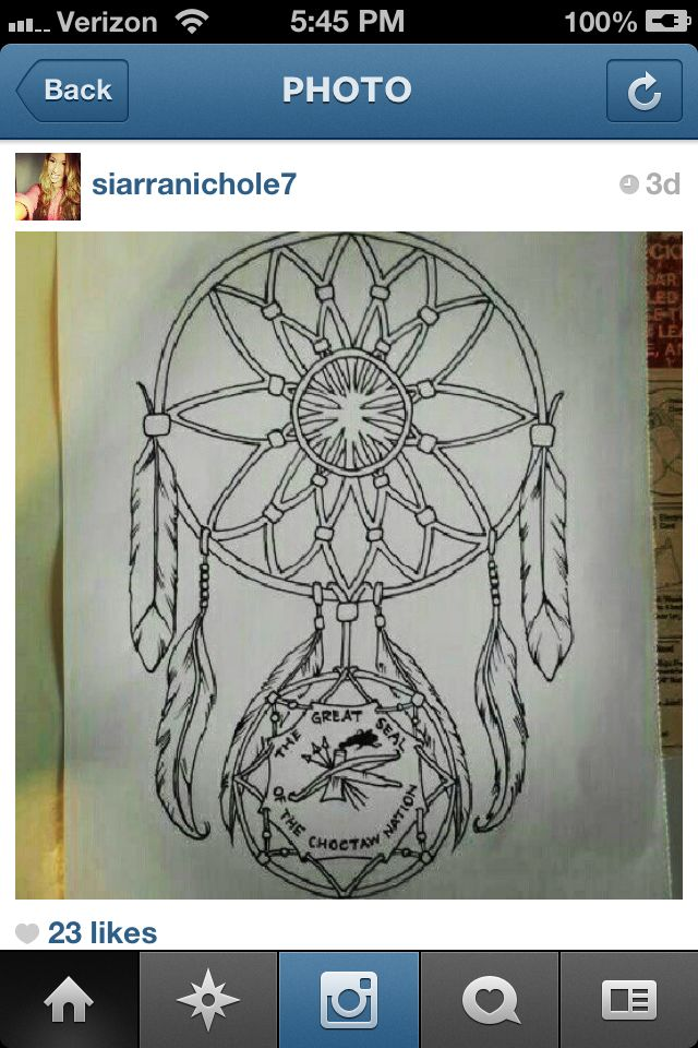 Choctaw Tribe Dream Catcher T A T T O O S Pinterest Choctaw