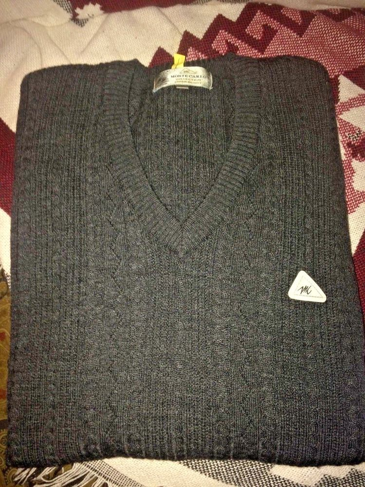 fca22695b7 NEW FOR FALL~Monte Carlo COLLECTION~MAGNA WOOL~GRAY CABLE SWEATER~MEN S  EUR.44  MonteCarlo  VNECK NEWFORFALL  montecarlocollectionsweater   guyssweater   ...