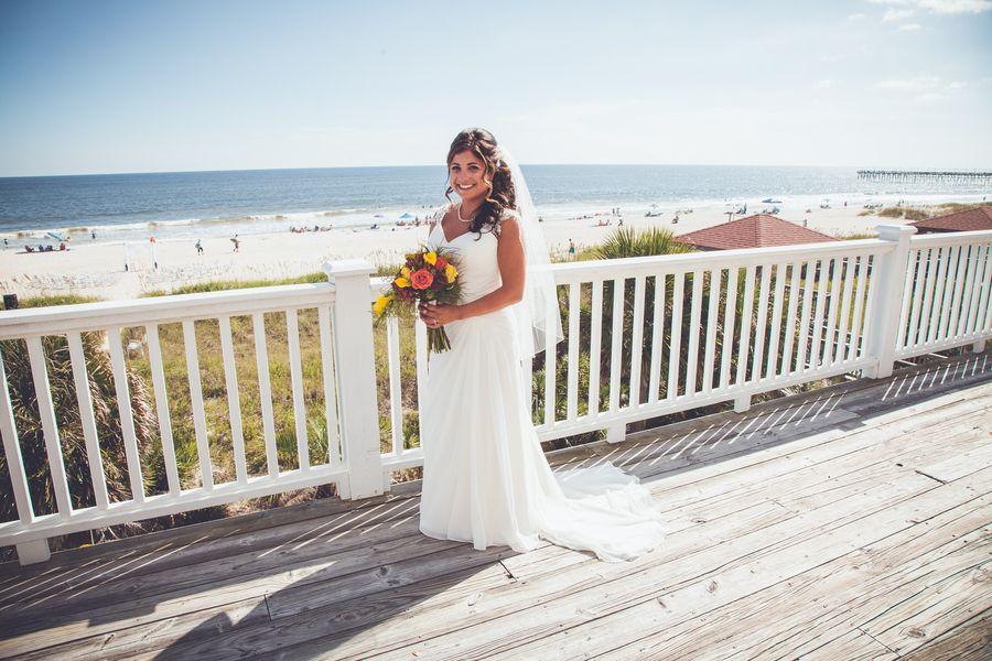 Backyard Beach Wedding In Ocean Isle Glittery Bride