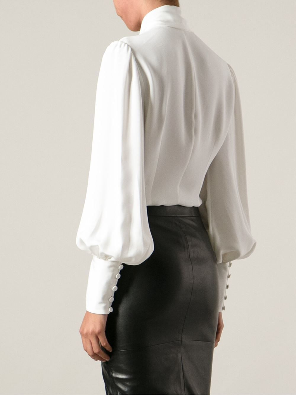 75a299d18c2e7d ... long sleeves and button cuffs. Chic and Fashionable With White Shirt.  alexander mcqueen blouse - Google keresés