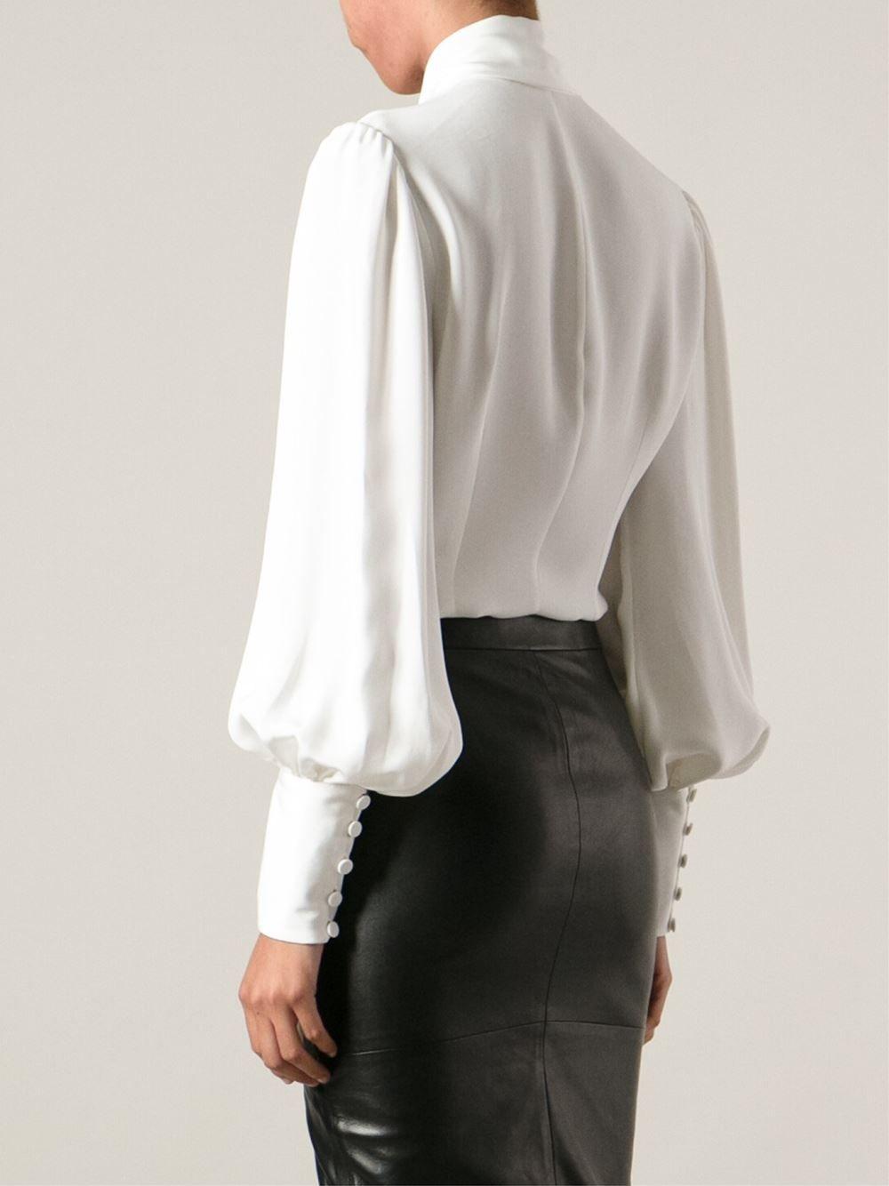 0cd5164e05be9a Silk Bow Blouse (back view) | Random | Fashion, Blouse, Victorian blouse
