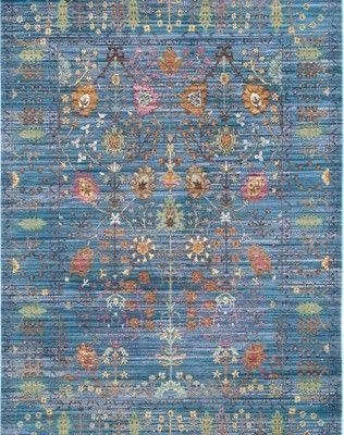 Safavieh Dywan Valencia Blau Multi 245 X 305cm