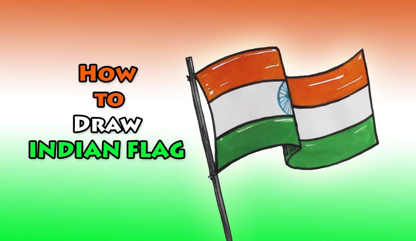 How To Draw Indian Flag Drawing Step By Step Flag India
