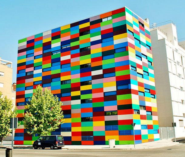 A Tour Of The Most Colourful Buildings The World Has Ever Seen. Arabanchel 24 Building, Madrid, Spain