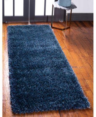 Bridgeport Home Jiya Jiy1 Navy Blue 2 7 X 6 Runner Area Rug Blue Rugs Rug Runner Blue Area Rugs