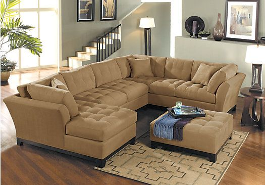 Cindy Crawford Home Metropolis Peat 4 Pc Sectional Living Room ...