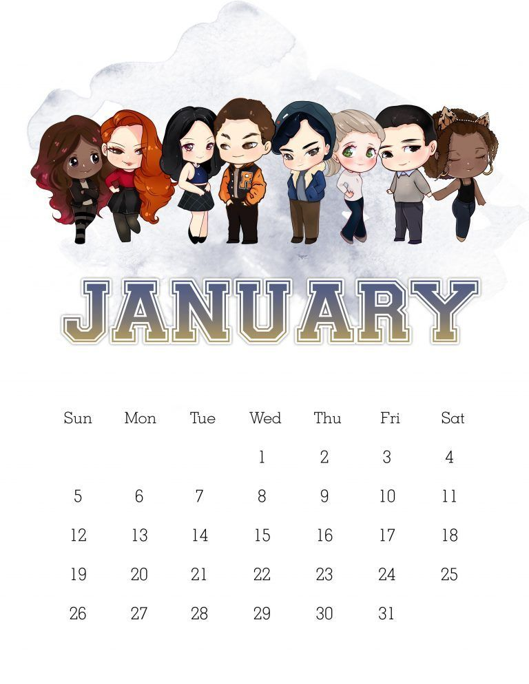 Free Printable 2020 Riverdale Calendar The Cottage