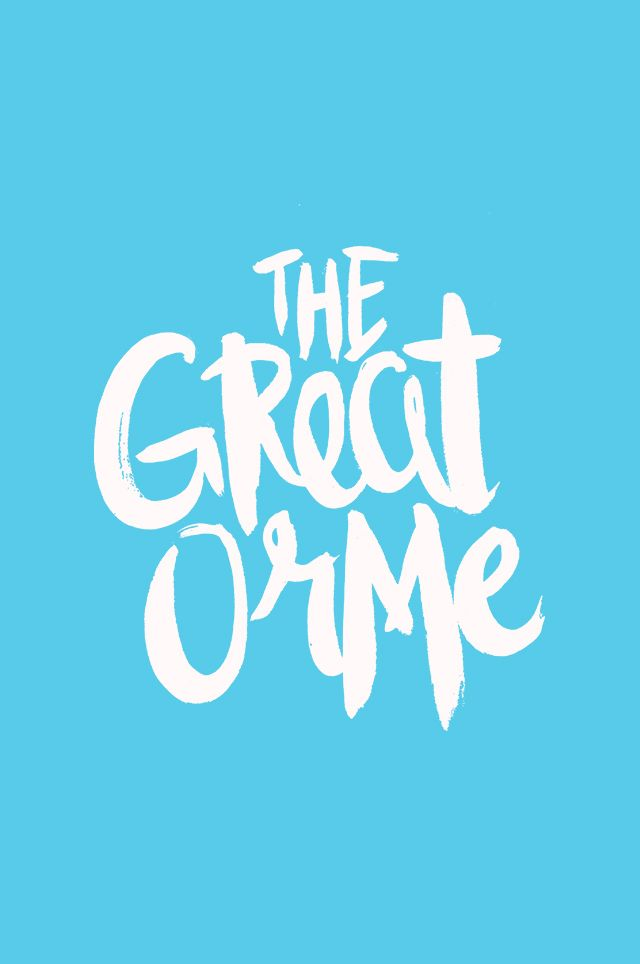 The Great Orme lettering