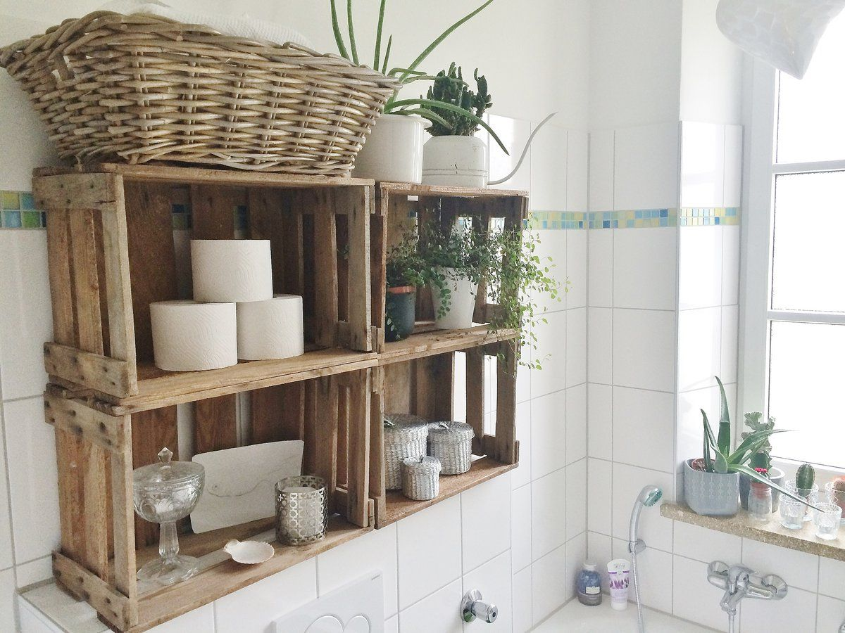 Weinkistenregal Weinkistenregal Im Bad Bathroom Pinterest Badezimmer