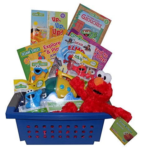 Sesame street elmo friends toddlers gift basket ideal for easter sesame street elmo friends toddlers gift basket ideal for easter birthday christmas negle Gallery