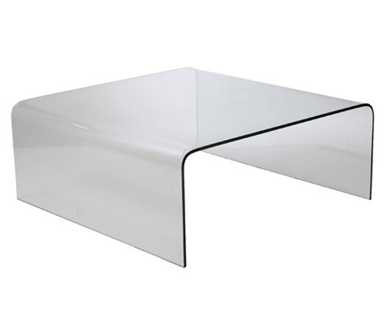 Curved Bent Glass Coffee Table Contemporary Coffee Table