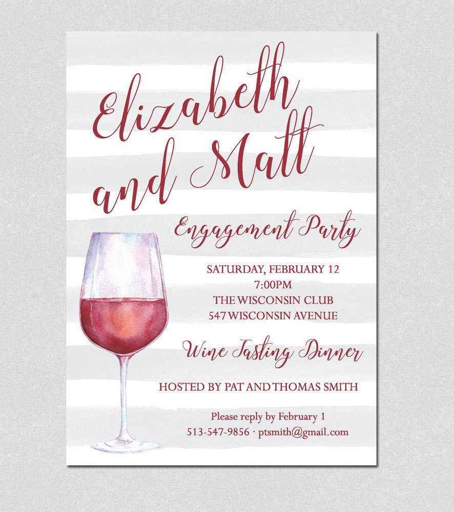 Cocktail Party Invitation Wine Tasting Party Invitation – Wine Tasting Party Invitation