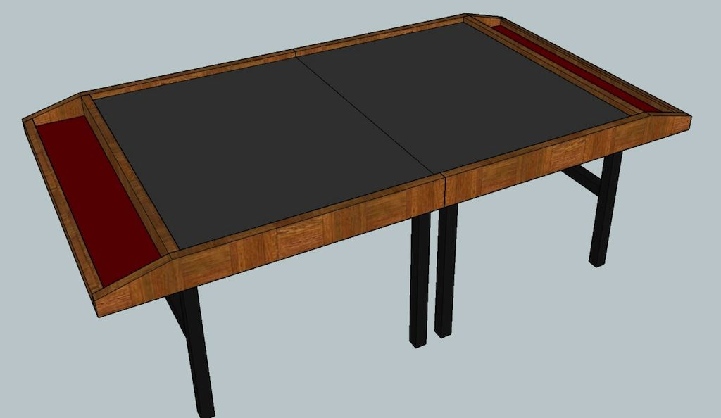 Foldable Gaming Table Plans And Result Table Games Table