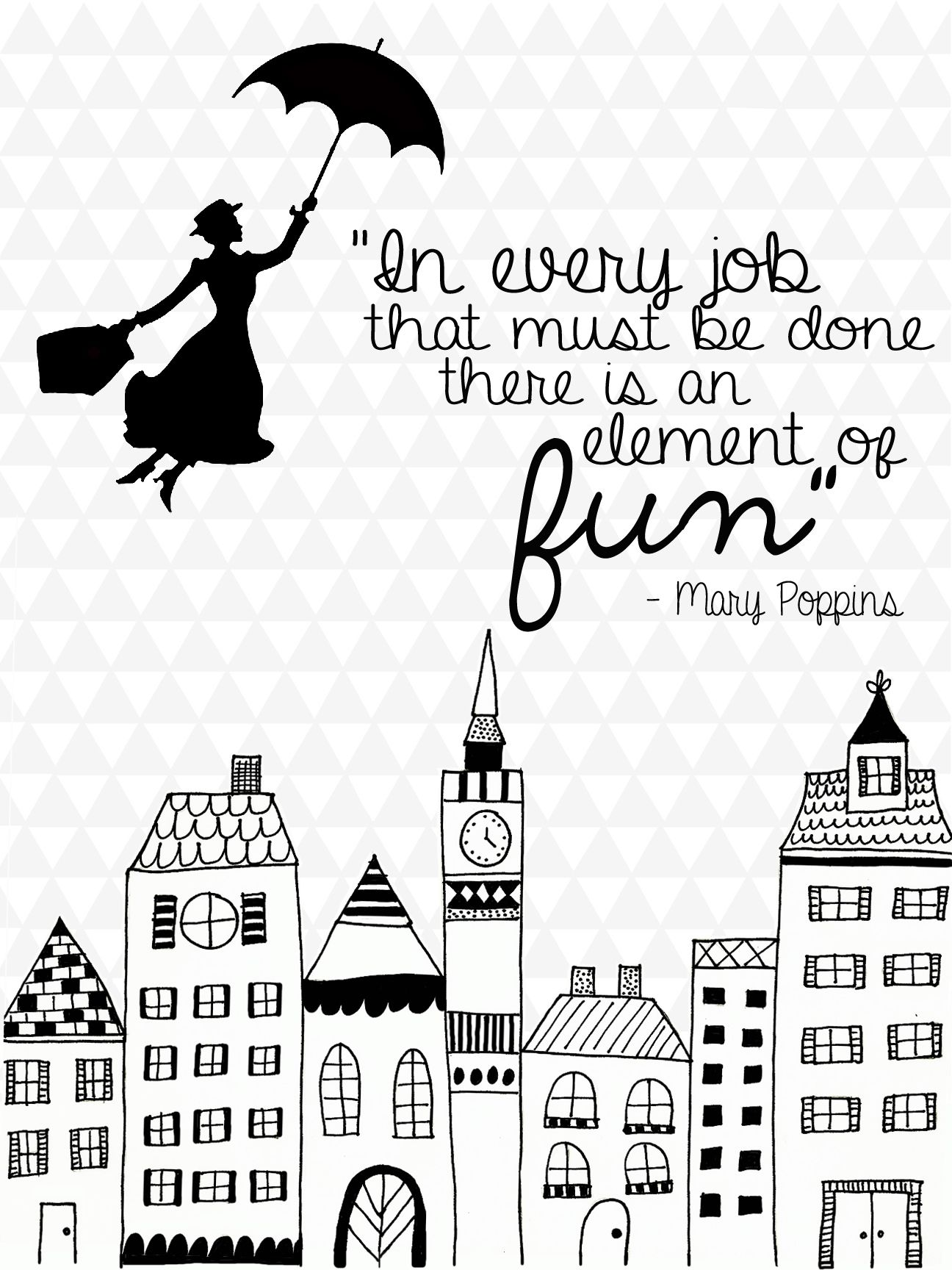 In every job that must be done there is an element of fun  is part of Mary poppins quotes - The laundry room  My arch nemesis    It's the room in our house that seems to collect everything that doesn't have a  home    it's the designated place for everything that doesn't have a designated place   It's a very small room that doubles as our primary storage closet in our little home