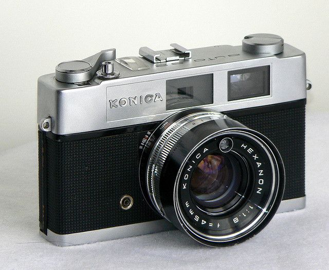 """Konica Auto S2 , 1965, sold retail for $100.00, Lot of money for a kid back then. Their slogan was"""" the lens alone is worth the price"""". I owned a used one in the early """"80s. The lens was good, but after owning Leicas the Konica was just not in the same league!"""