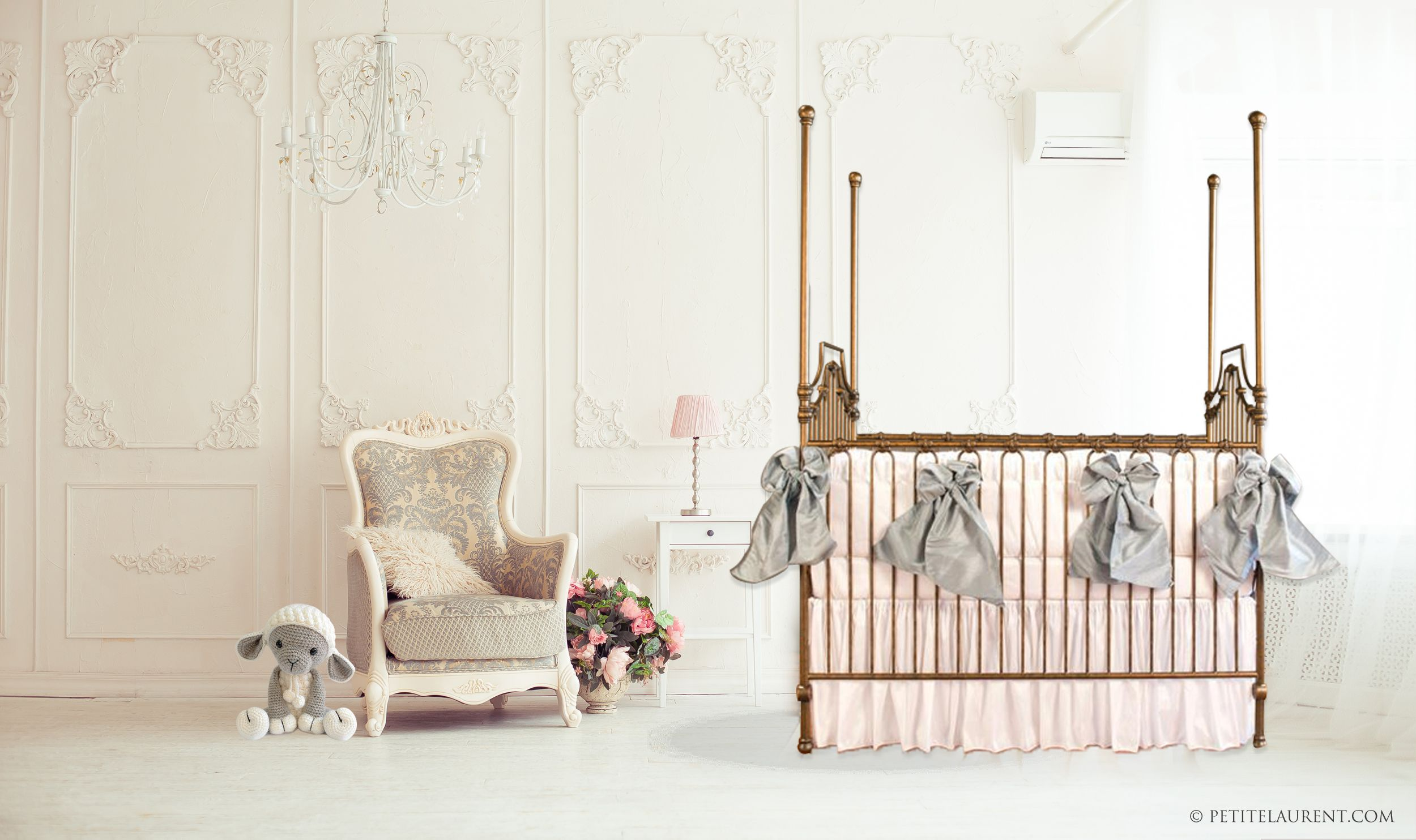 Parisian 9 In 1 Crib - Vintage Gold Converts 9
