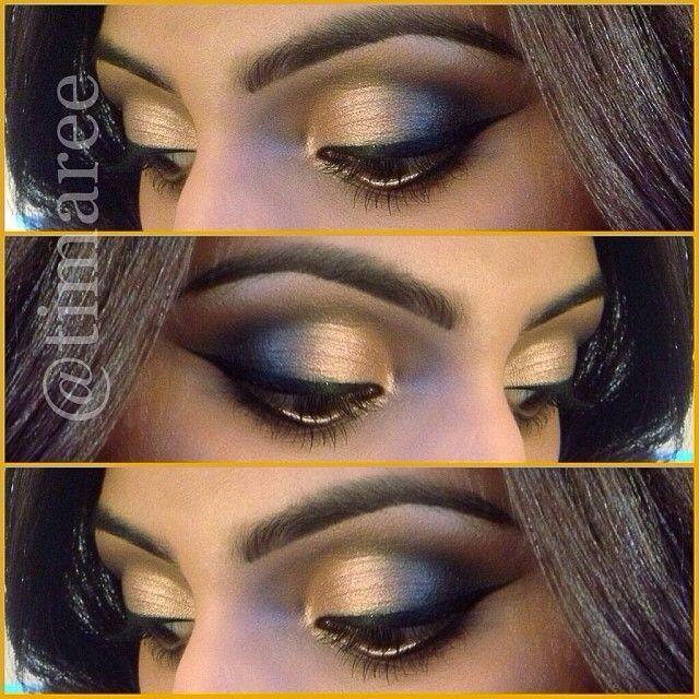 Golden Smokey Eyes!