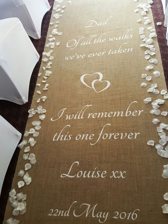 Personalised Hessian Aisle Runner With Images Aisle Runner Diy Wedding Aisle Runner Personalized Aisle Runner