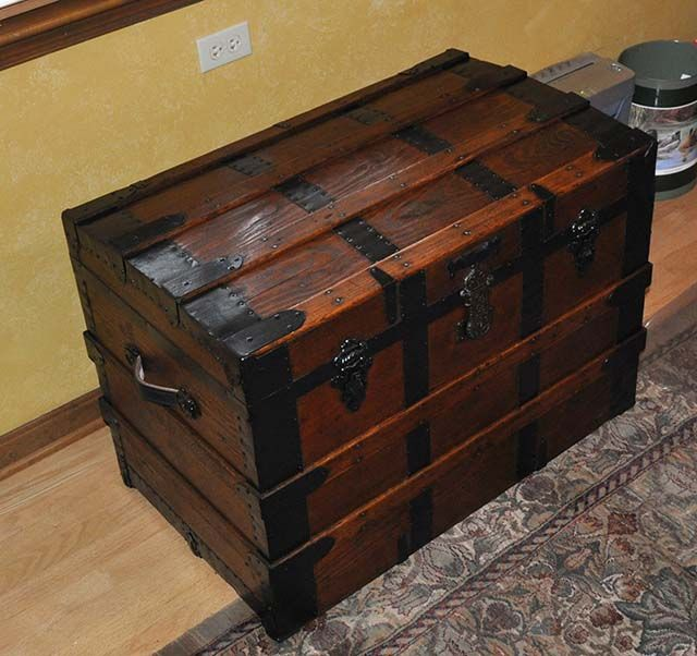 Charming Filing Cabinet Trunk. I Have This Trunk! Perfect Idea