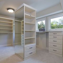 love this huge closet! want it!  Houzz.com is an Inspiration website for homes that is associated with where I work, Lowe's! I love this website and I have been addicted. Its like a pinterest home idea book!!