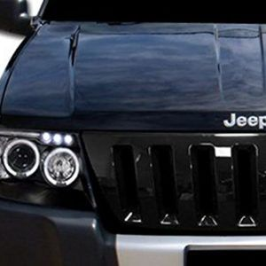 Wj Jeep Grand Cherokee Black Front Hood Grille Inserts Jeep