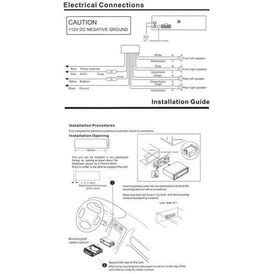 each in-dash receiver from pyle audio has extensive instructions! | car  stereo, diagram, subwoofer wiring  pinterest