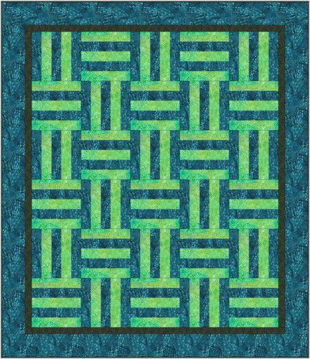 Easy Split Rail Fence Quilt Pattern | Quilt ideas | Free ...