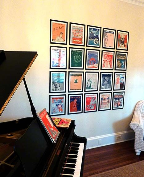 Sheet Music Covers As Wall Art Classic Art Deco Music Framed And