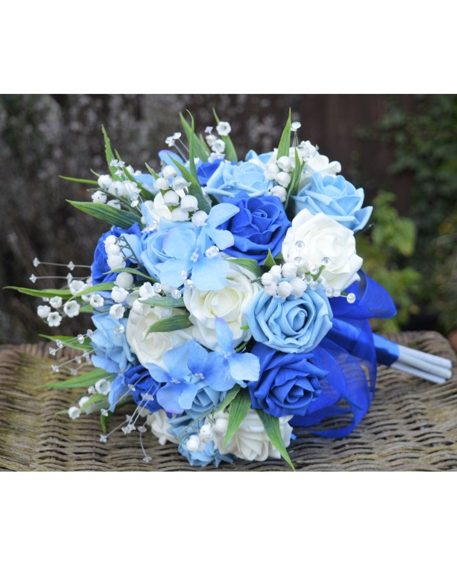 BLUE ROSE BRIDES BOUQUET Danielle Design Rose, Lily of The