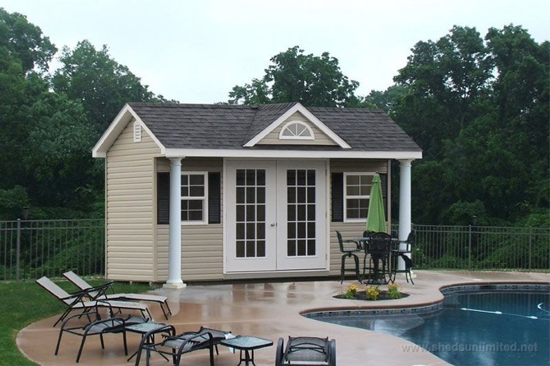 Small Pool House Ideas perfect petite pool for the small backyard design kirk wood homes Small Outdoor Vinyl Storage Shed In Pa