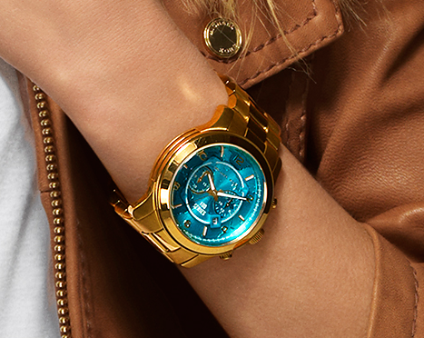 4ed25d2c2c7e Michael Kors watch hunger stop campaign with Halle Berry. Oversized 100  Series Watch