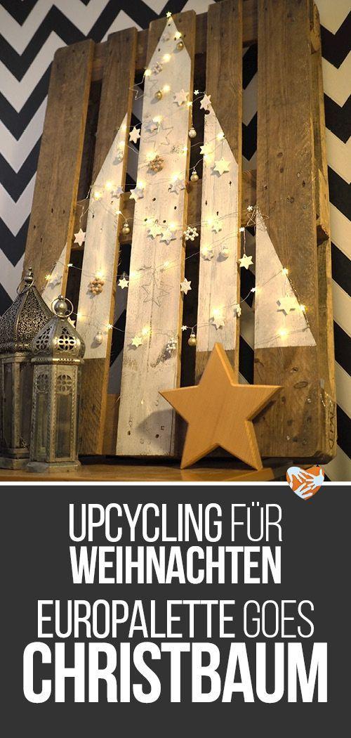 DIY-Anleitung: Weihnachtsbaum aus Holzpalette [Upycling ohne Sägen und Bohren] | Muttis Nähkästchen