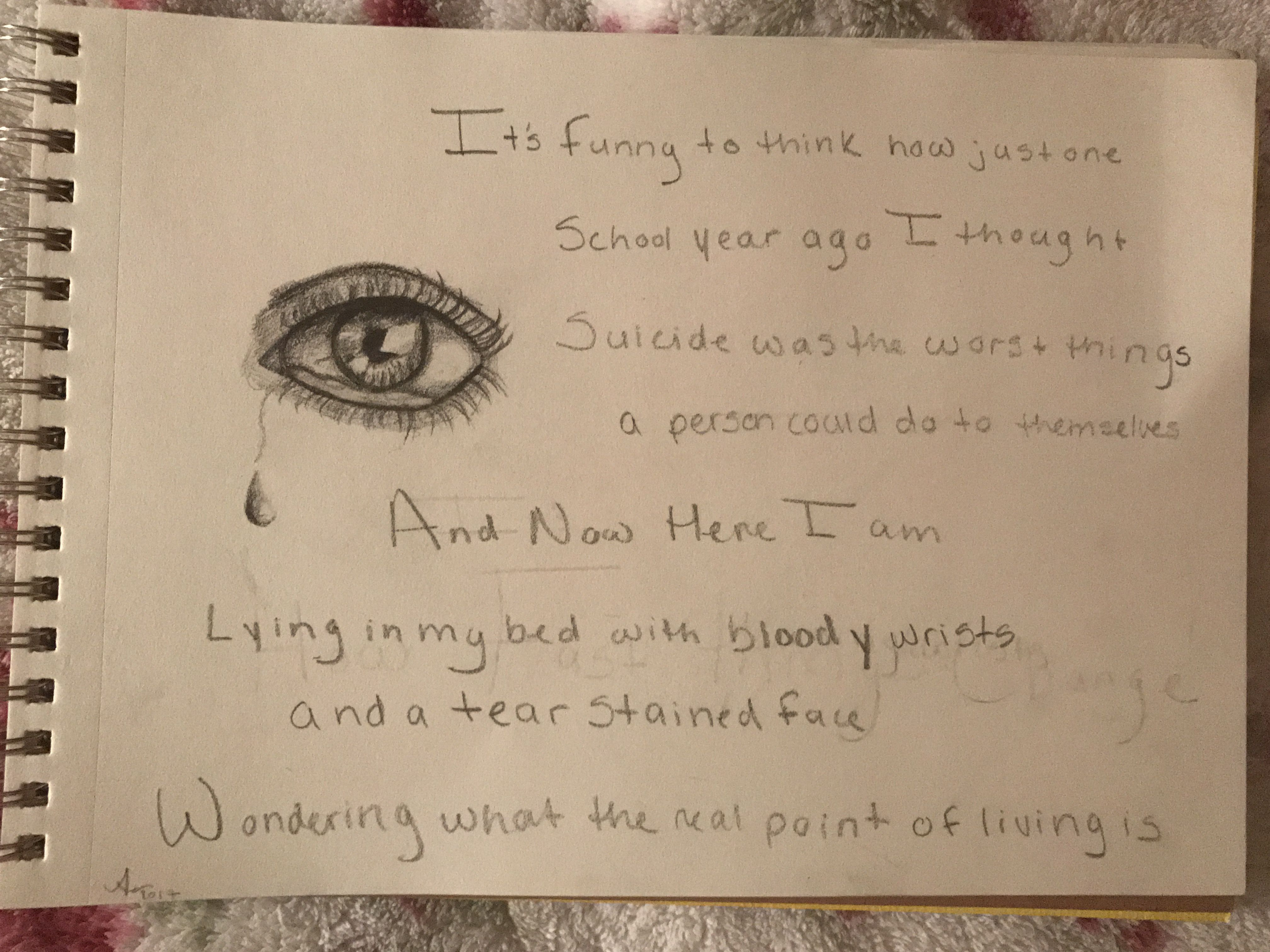 Depression self harm drawing quote  if only I knew    Sad     Depression self harm drawing quote  if only I knew