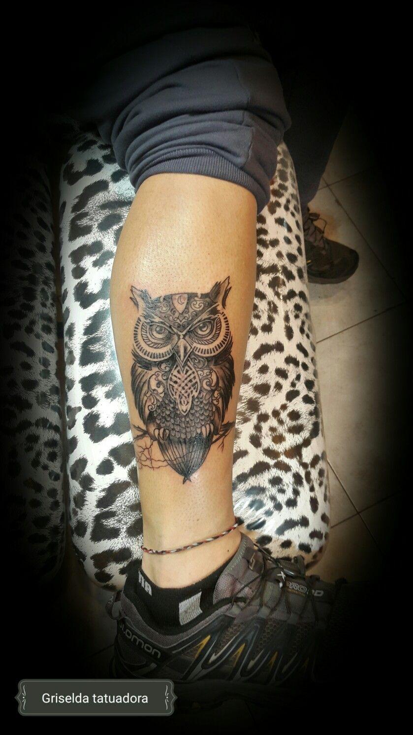 Buho Tattoo Pierna 49041580 Tatuaje Geometrico Tatuajes