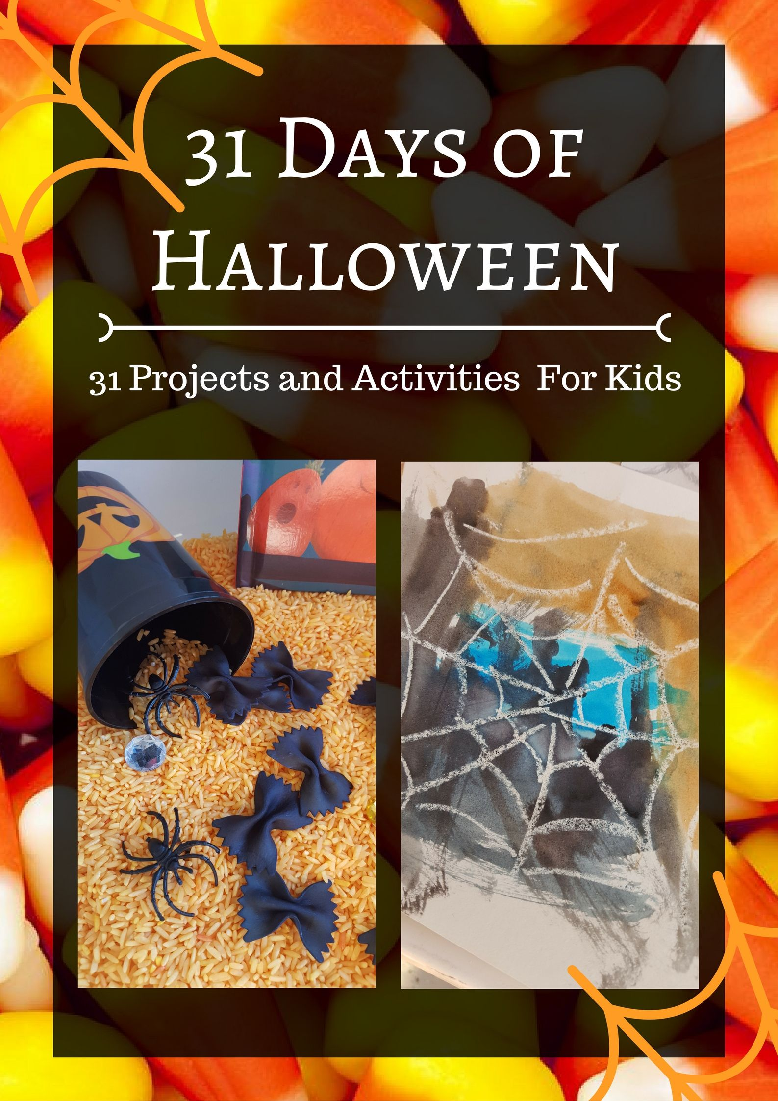 31 Days of Halloween: 31 Projects and Activities for Kids. Fun, hands on activities for toddlers and preschoolers. Sensory activities, art projects, busy bags, educational games, and more!