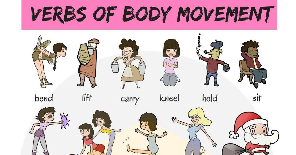 Movement Verbs 45 Useful Verbs Of Body Movement English Verbs Body Movement English Language