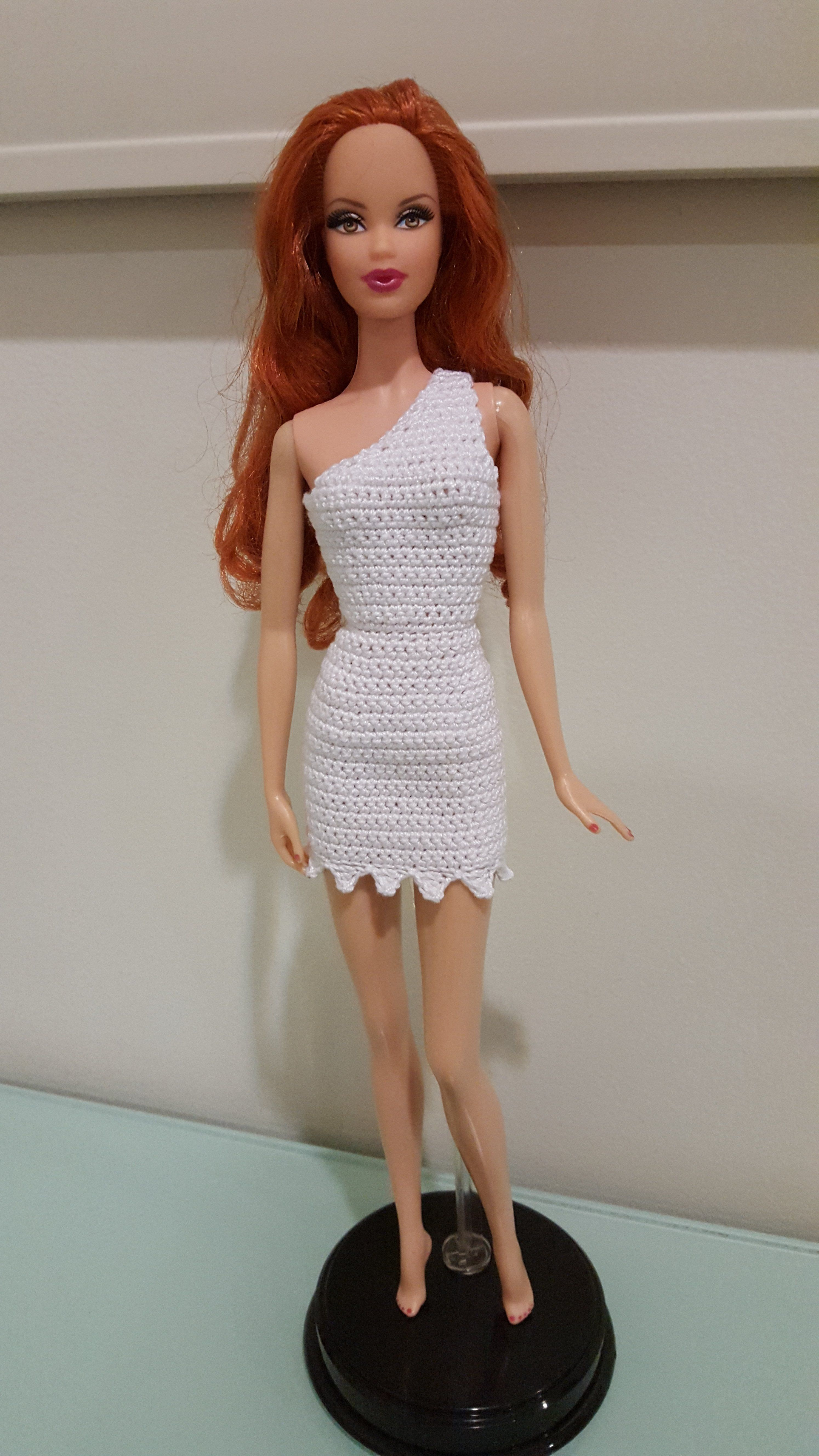 Barbie Wilma-Flintstone-Inspired Bodycon Dress (Free Crochet Pattern ...