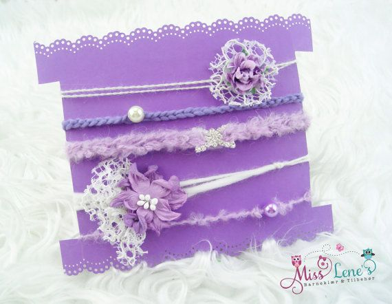 Purple Newborn Baby Girl Tie-Back Set, 5pc Newborn Baby Girl Photo Prop Tie-Back Set, Lavender Baby Headbands, Baby Lace Headband