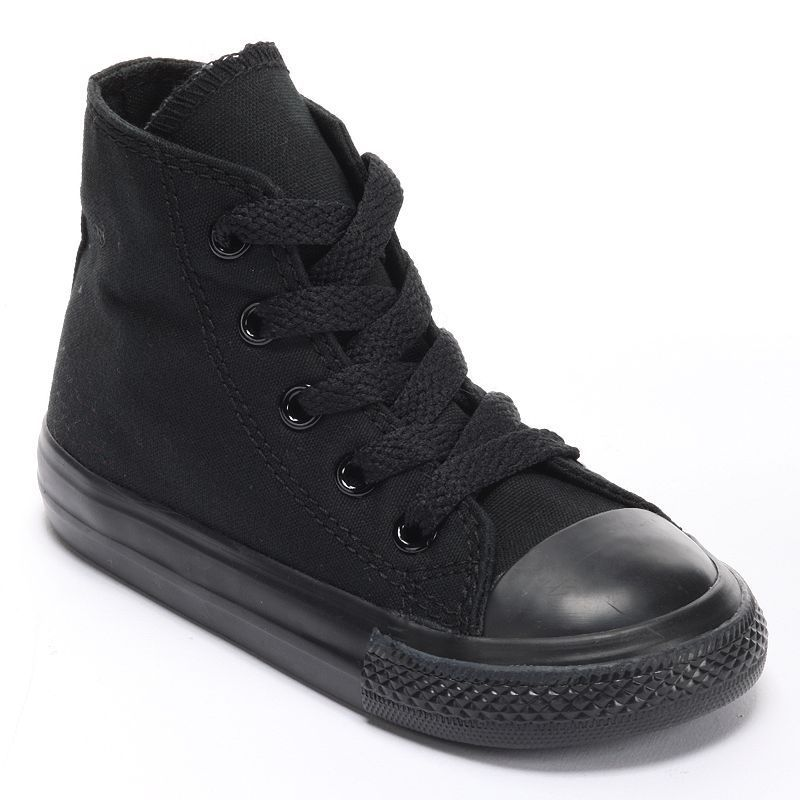 black converse high tops childrens