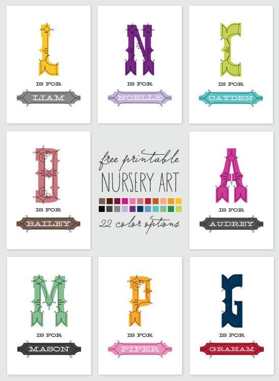 Free Printable Monogram Name Art   Lacey Lu   Pinterest ...